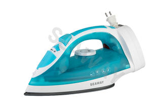 SW-201A Double soleplate Powerful steam Cord Rewind Steam Iron
