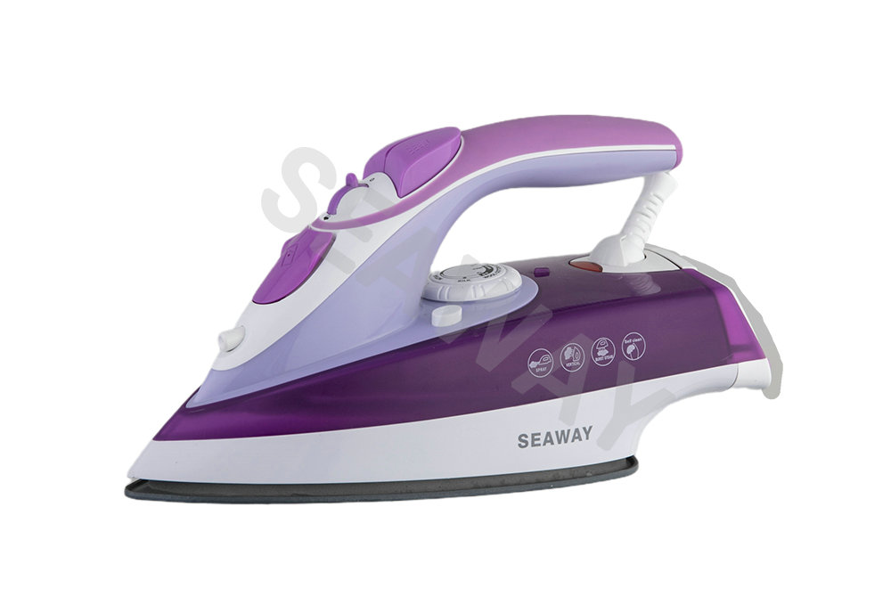 SW-3288 1100W-2600W Open Handle Steam Iron With Soft Grip Handle